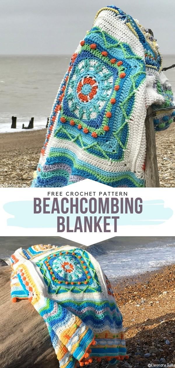 Beachcombing Blanket Free Crochet Pattern