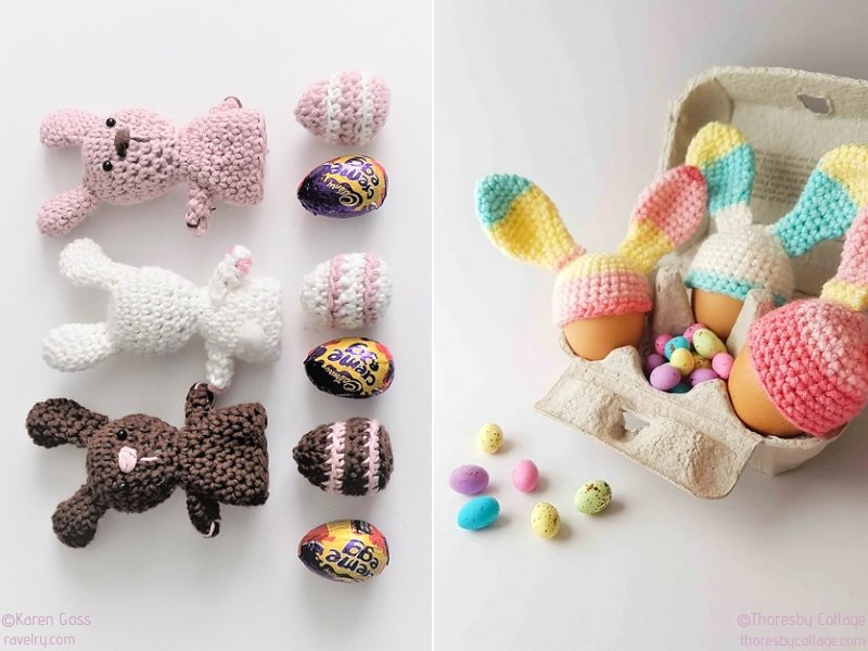 Bunny Egg Cozies Free Crochet Patterns