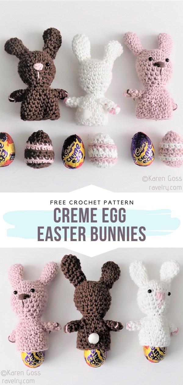 Creme Egg Easter Bunnies Crochet Cozies