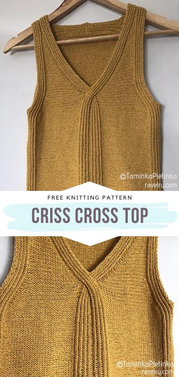 Criss Cross Knit Top