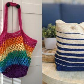 Crochet Beach Bags Free Patterns