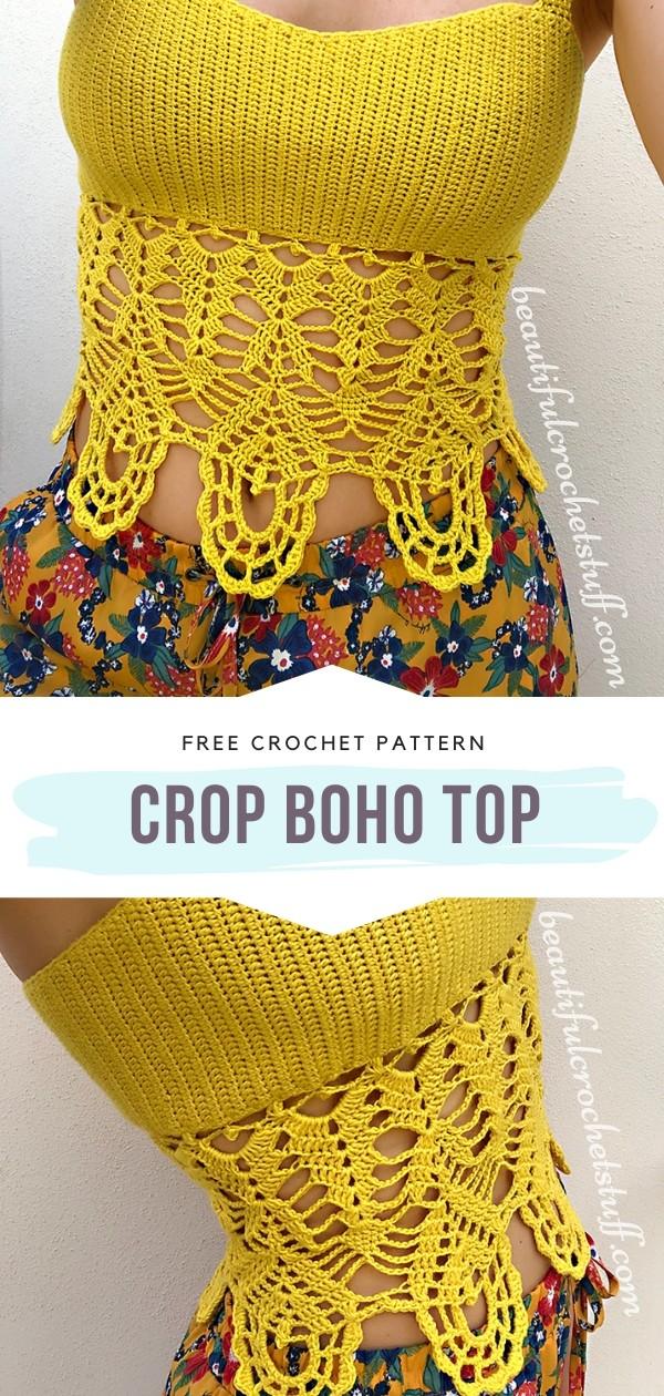 Crochet Crop Boho Top