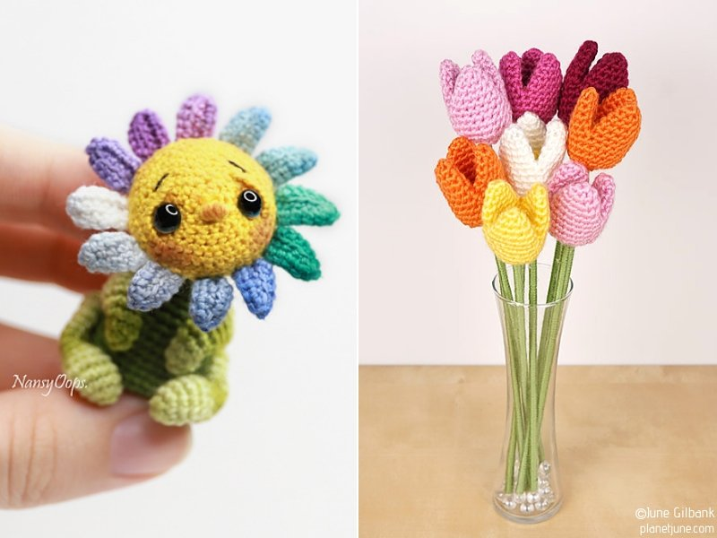 Cute Amigurumi Flowers
