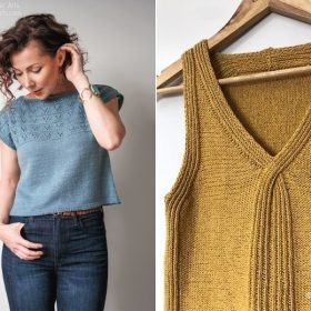 Delicate Knitted Tops Free Patterns