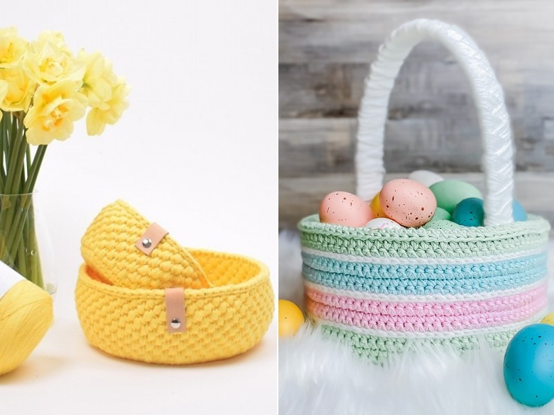 Easter Baskets Free Crochet Patterns
