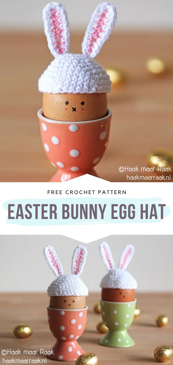 Easter Bunny Egg Hat Crochet Cozy