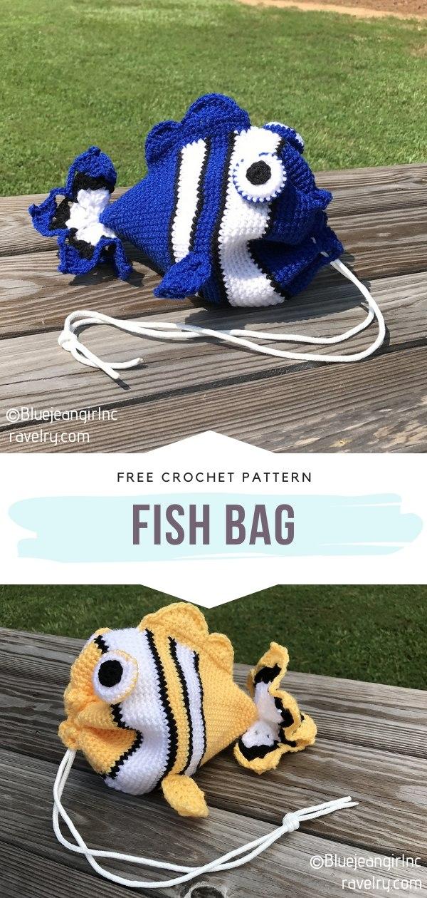Fish Crochet Bag