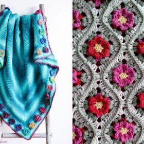 In The Crochet Garden Blankets Free Patterns