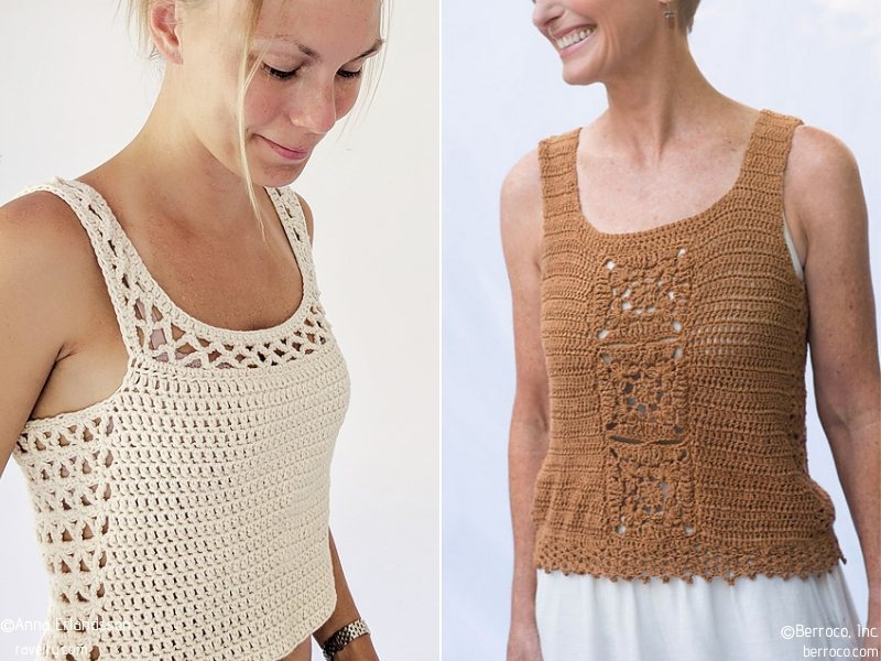 Lovely Tops Free Crochet Patterns