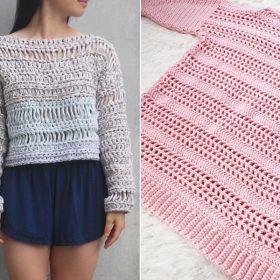Mesh Spring Sweaters Free Crochet Patterns