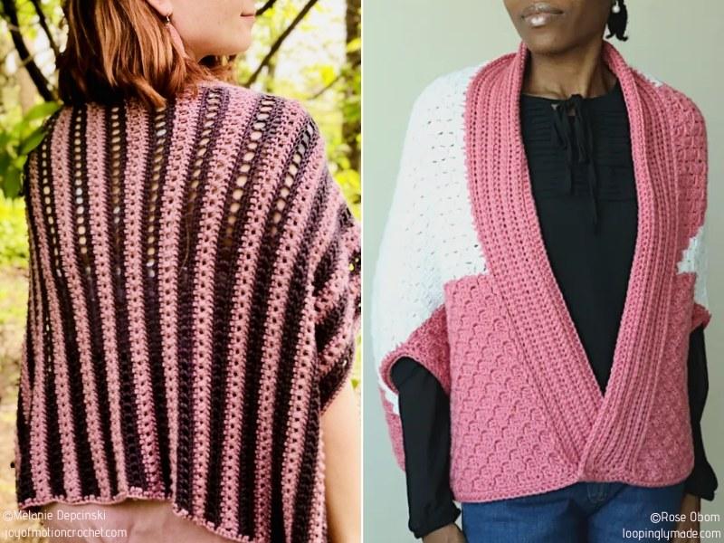Pretty Pink Crochet Shrugs