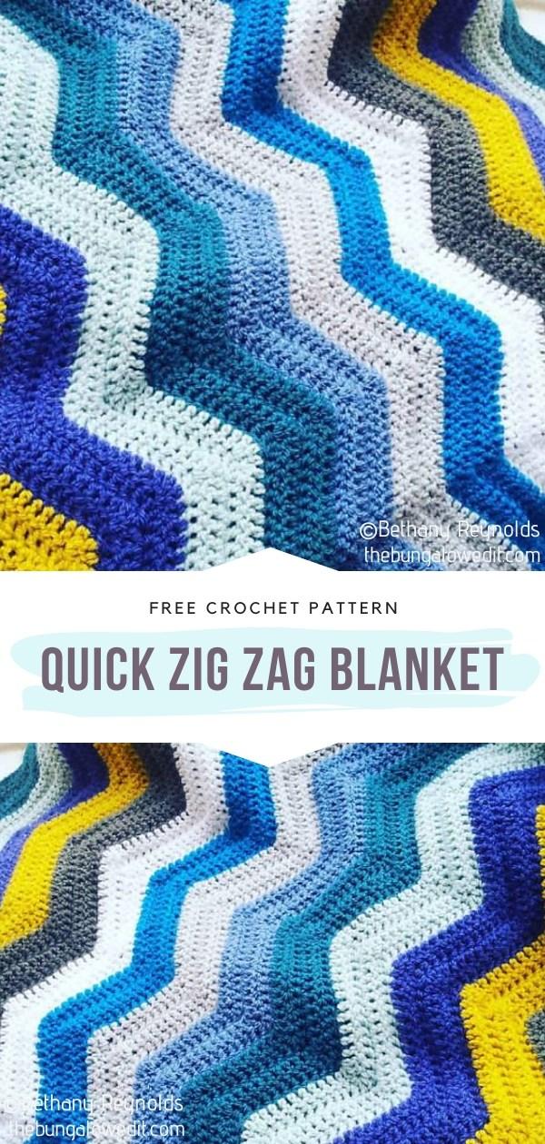 Quick Zig Zag Crochet Blanket