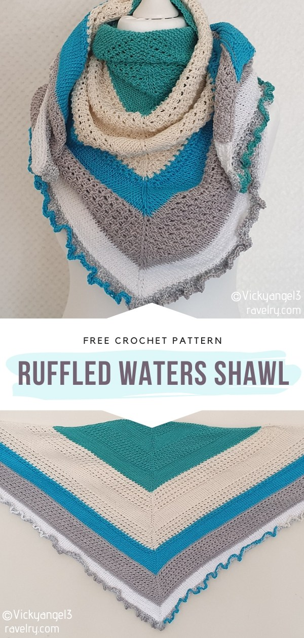 Ruffled Waters Knit Shawl