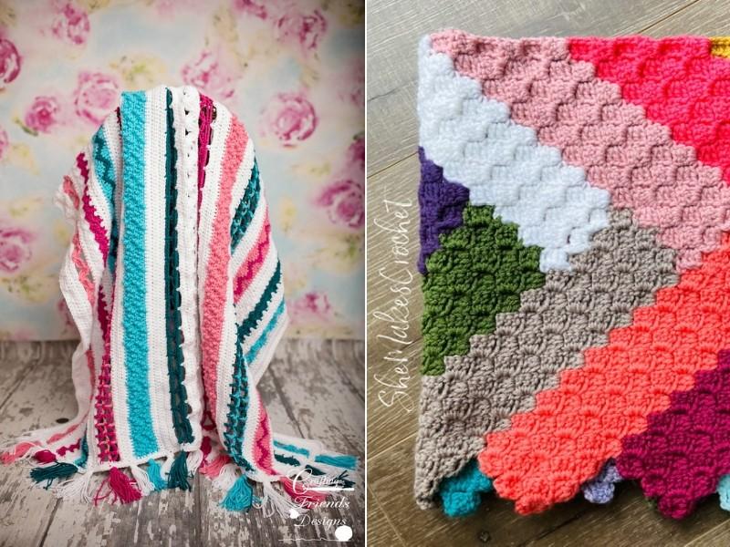Zig Zag Blankets Free Crochet Patterns