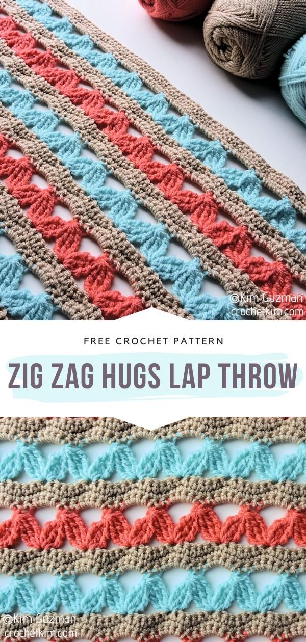 Zig Zag Hugs Lap Crochet Throw