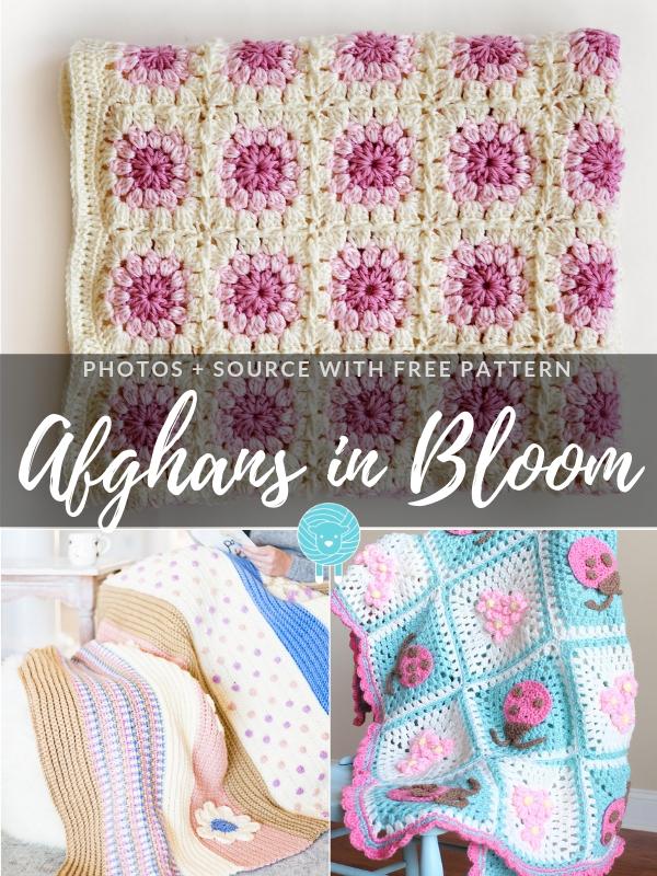 Afghans in Bloom Free Crochet Patterns