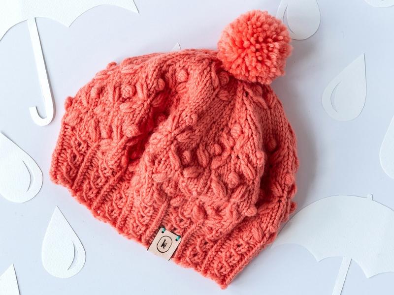 April Hat Free Knitting Pattern