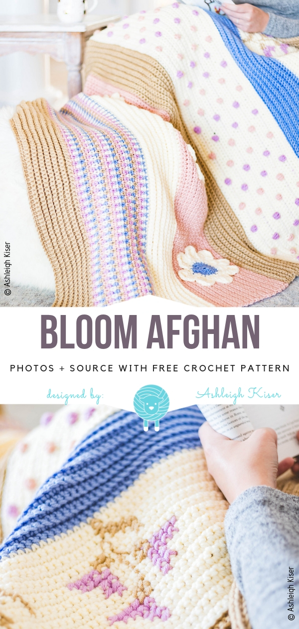 Bloom AfghanFree Crochet Pattern