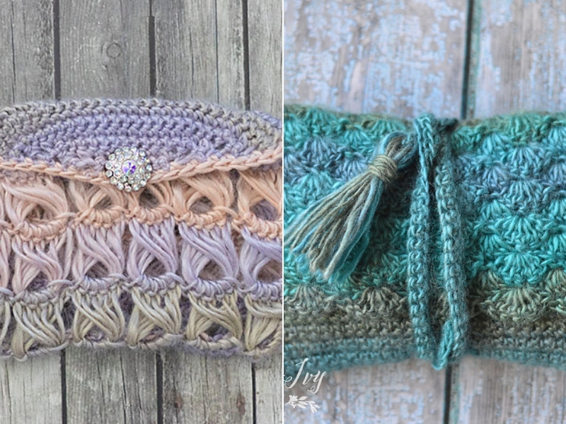 Boho Crochet Clutches Free Patterns