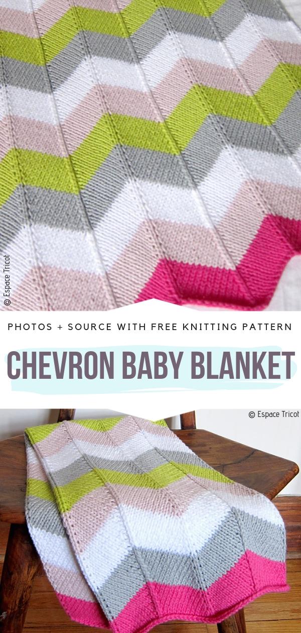 Chevron Baby BlanketFree Knitting Pattern