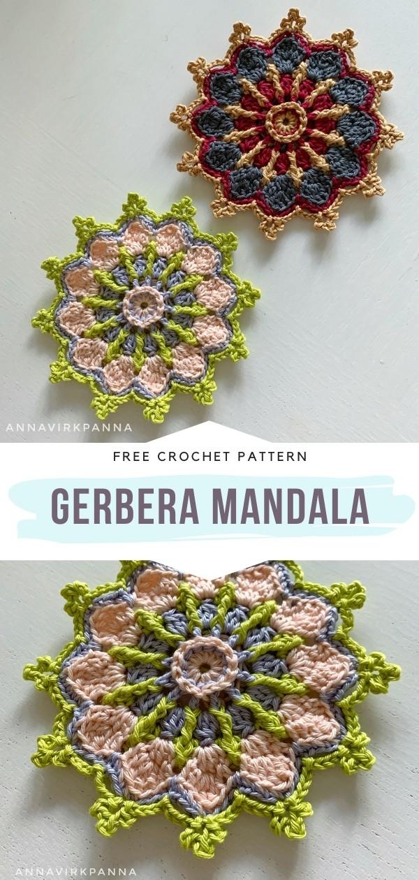 Crochet Gerbera Mandala