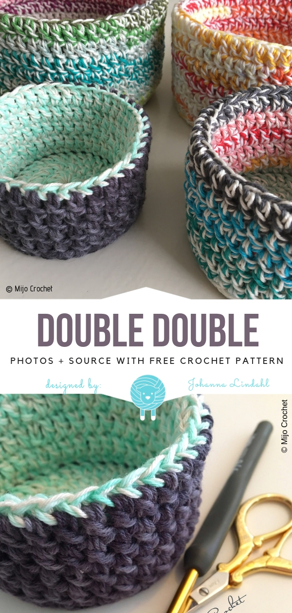 Beautiful Basket Double DoubleFree Crochet Pattern