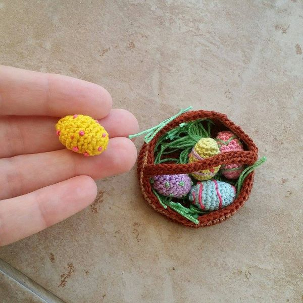 Crochet Easter Eggs and Basket