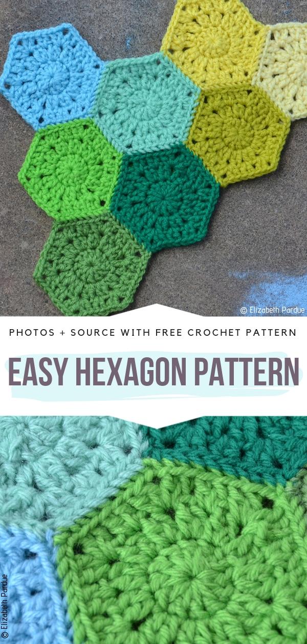 Easy Hexagon PatternFree Crochet Pattern