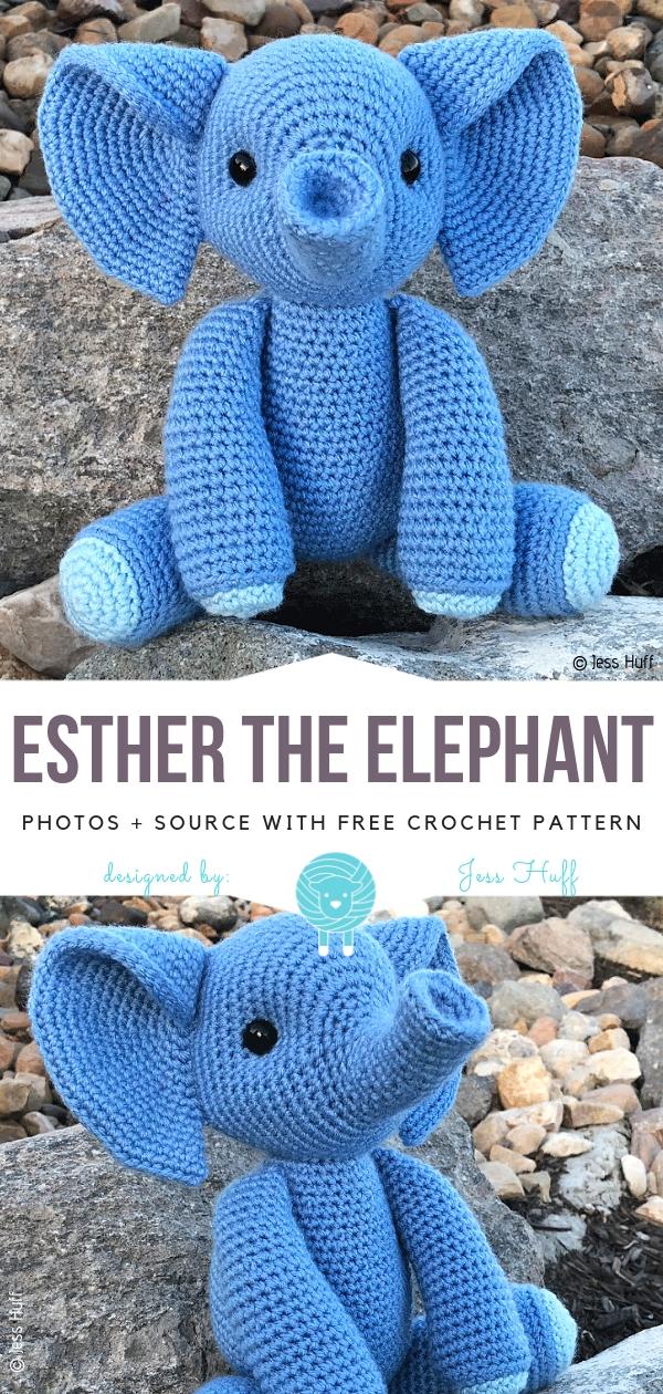 Esther the ElephantFree Crochet Pattern