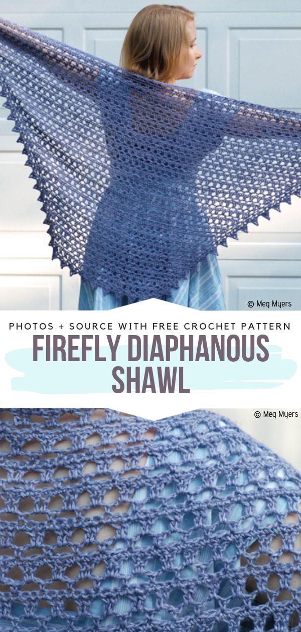 Firefly Diaphanous ShawlFree Crochet Pattern