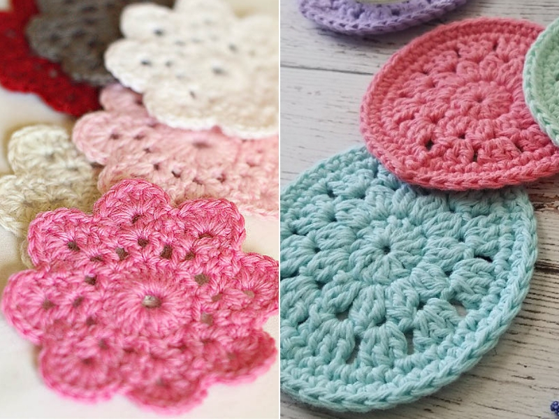 Floral Spring Coasters Free Crochet Patterns