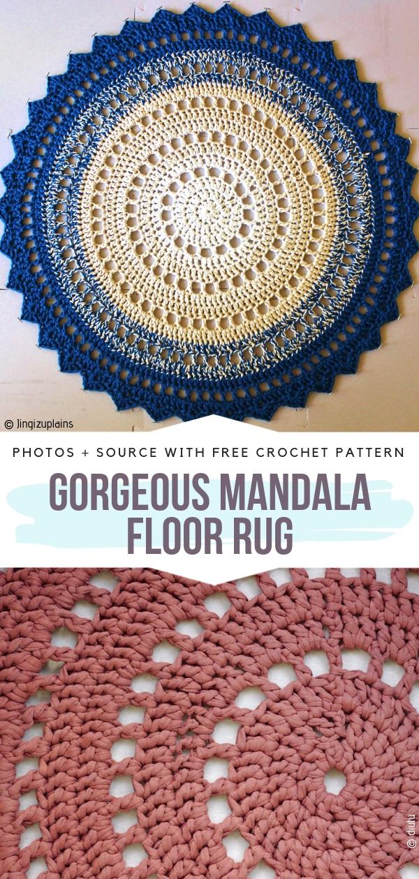 Mandala Bodenteppich