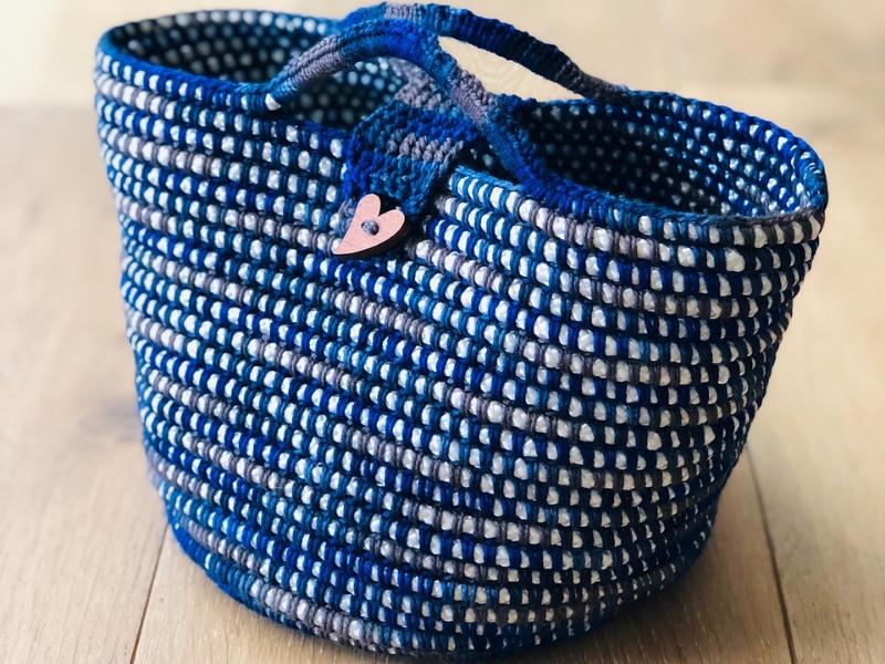 Happy Project Basket Free Crochet Pattern