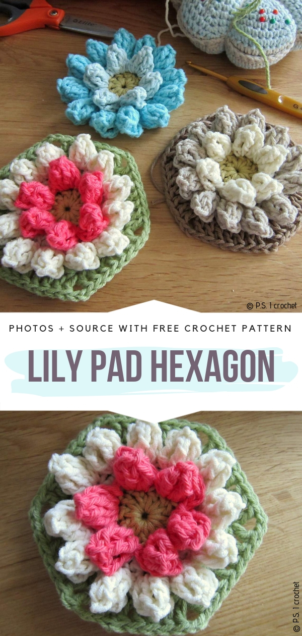 Lily Pad HexagonFree Crochet Pattern