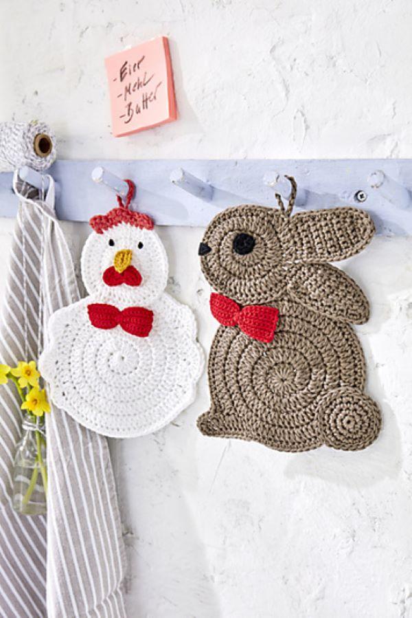 Easter Crochet Potholders