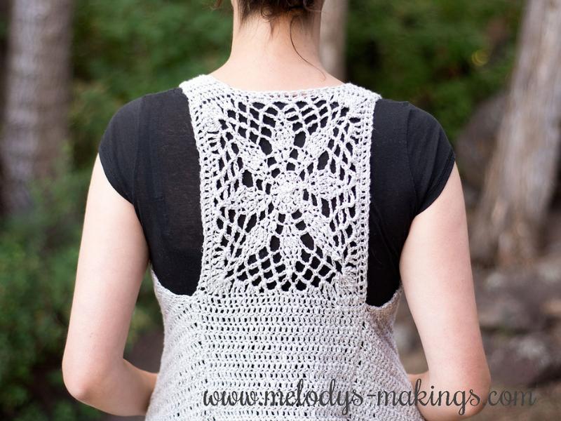 Sun Struck Boho Vest Free Crochet Pattern