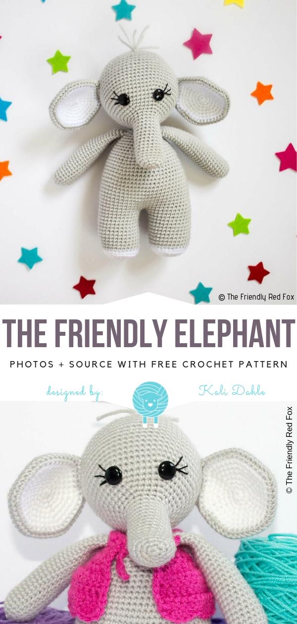 The Friendly ElephantFree Crochet Pattern