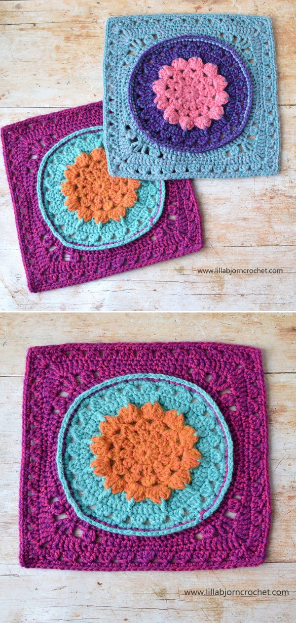 """Water Lilly 12"""" SquareFree Crochet Pattern"""