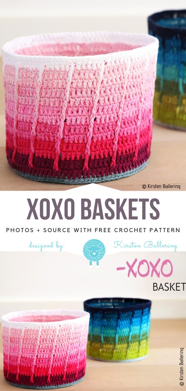 XOXO BasketsFree Crochet Pattern