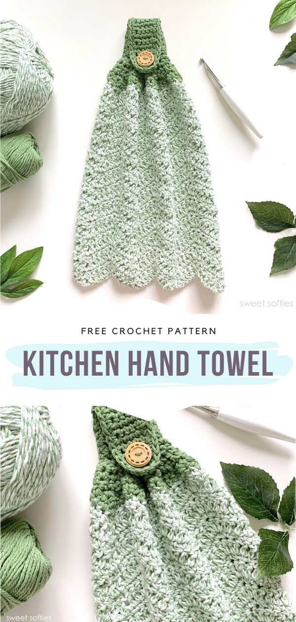 Colorful Kitchen Towels For Summer With Free Crochet Patterns