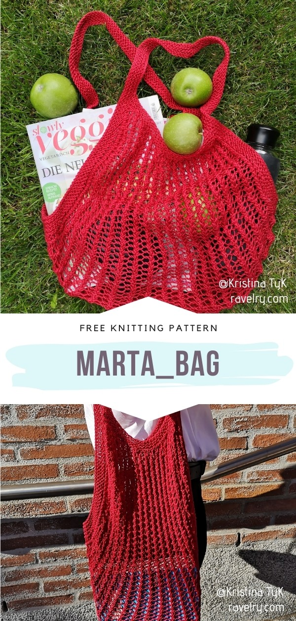 Knit Grocery Bag