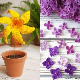 Beautiful Crochet Flowers Free Patterns