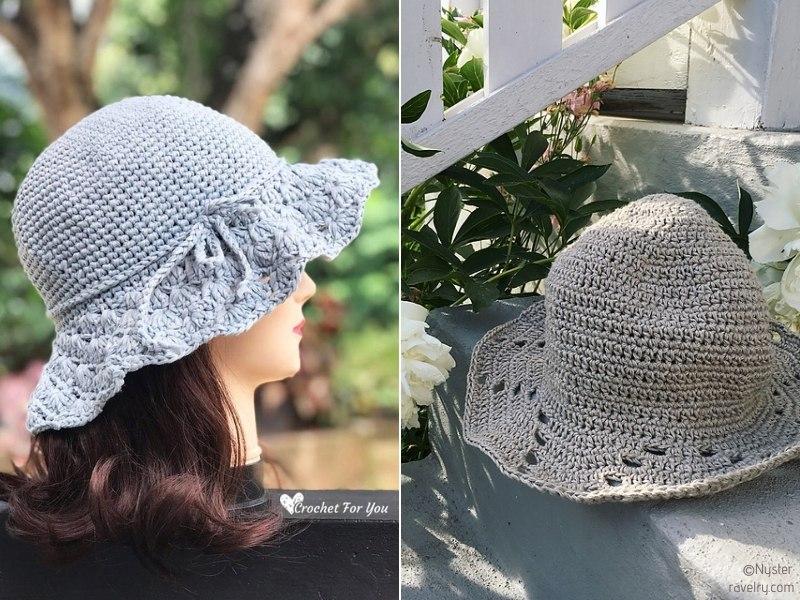 Beautiful Summer Hats Free Crochet Patterns