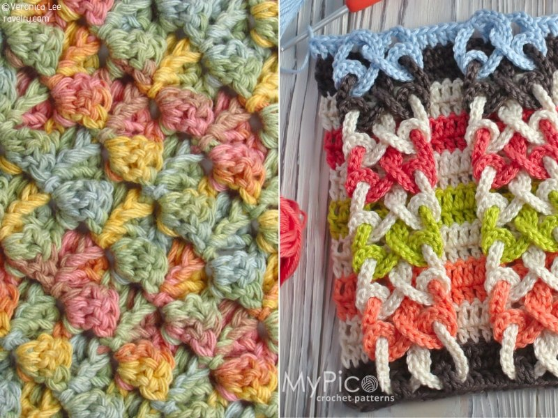 Beautiful Textured Crochet Stitches