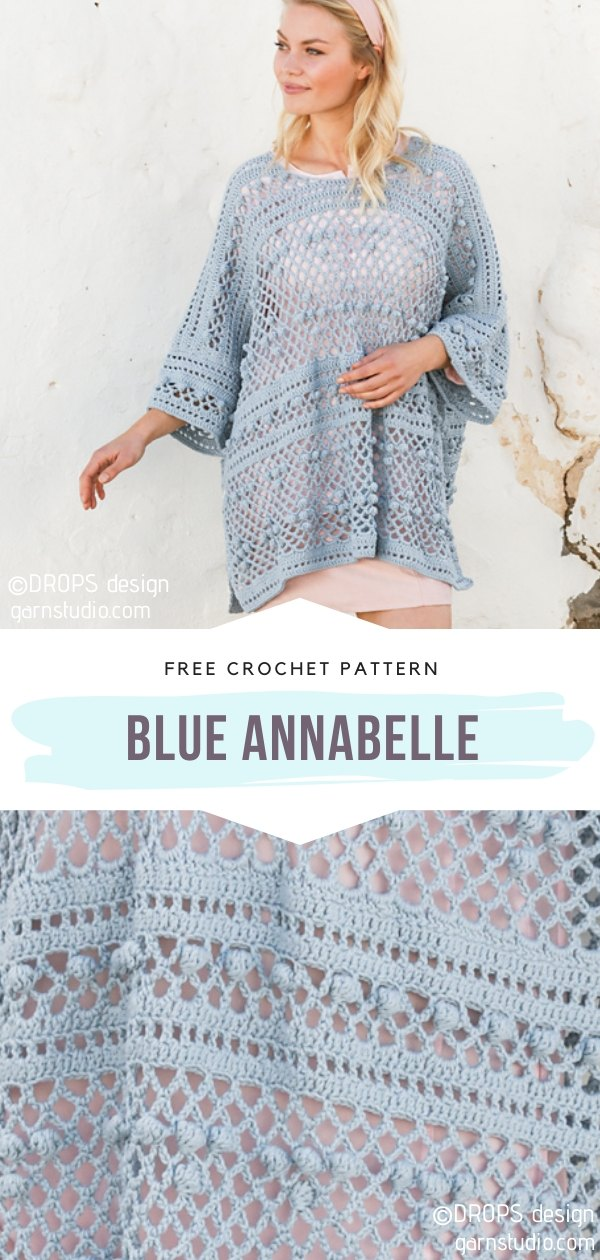 Blue Annabelle Crochet Top