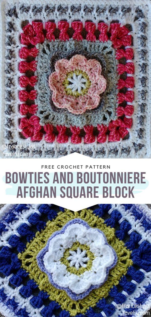 Afghan Square Crochet Block