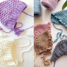 Charming Baby Bonnets Free Crochet Patterns