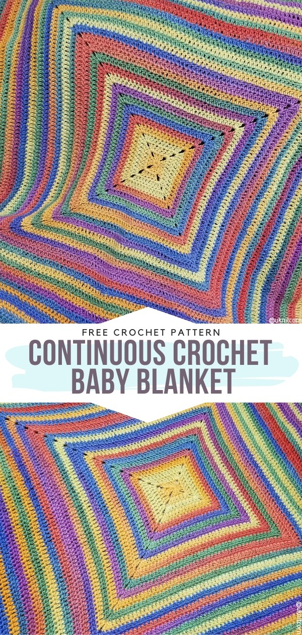 Continuous Crochet Baby Blanket Free Crochet Patterns