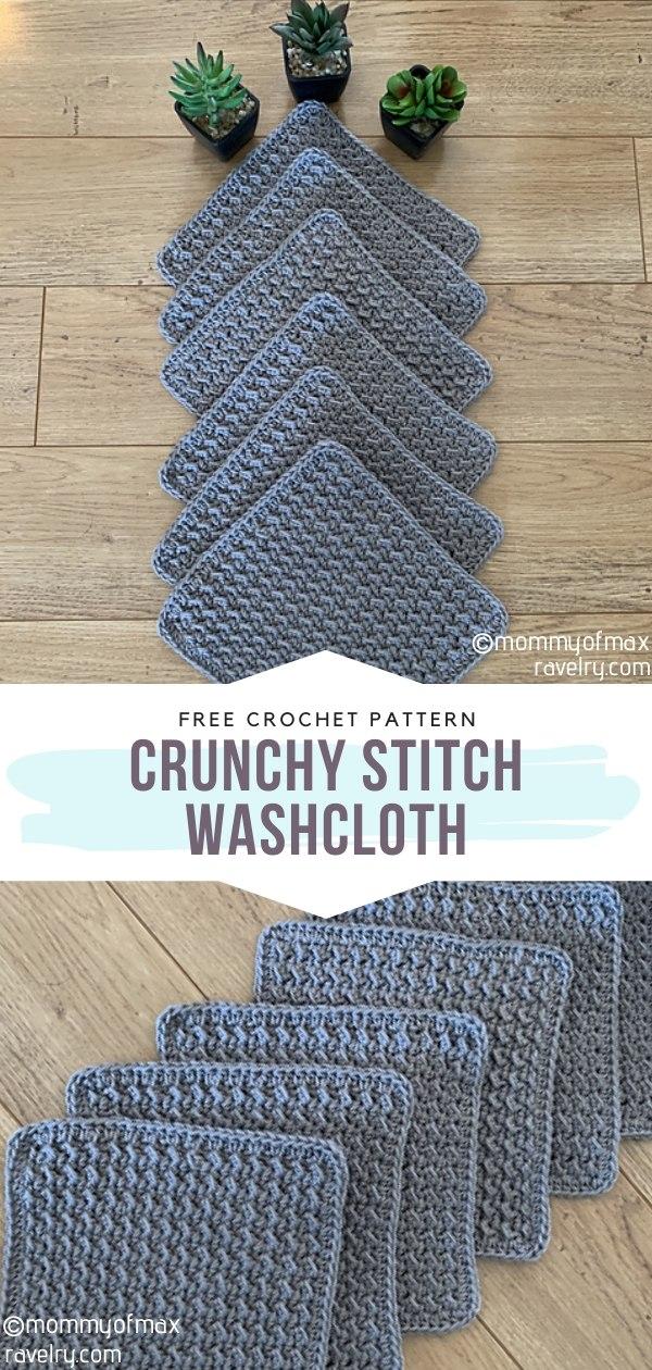 Crunchy Stitch Crochet Washcloth