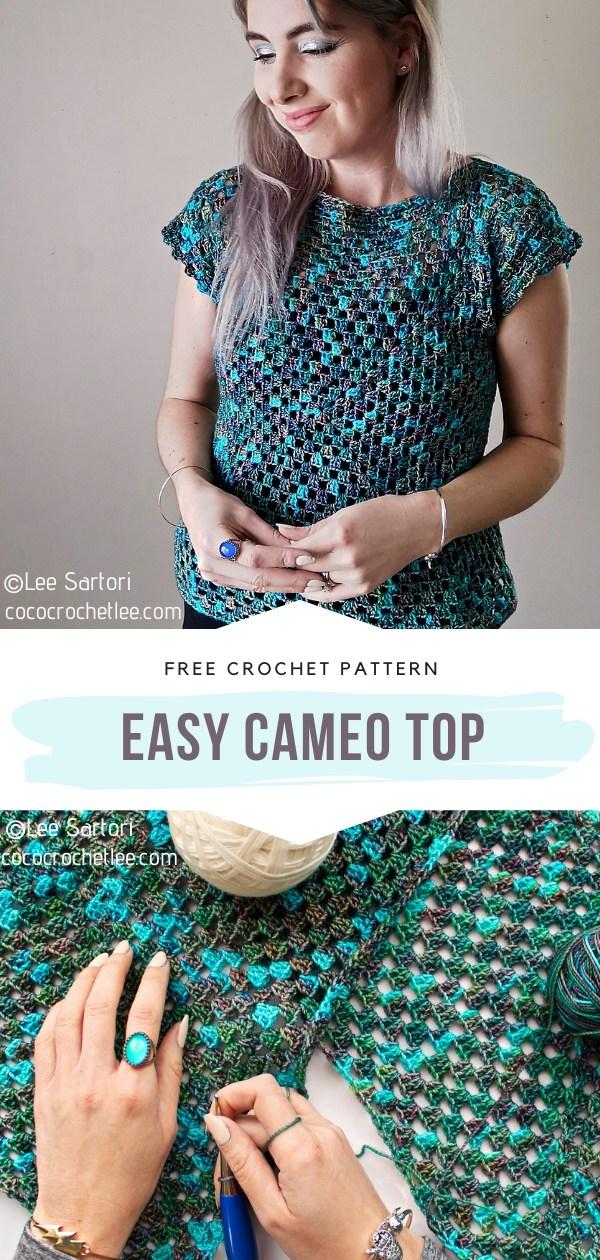 Easy Crochet Cameo Top